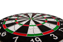 Dartboard target. Details of a dartboard target with various scoring areas and colors Stock Image