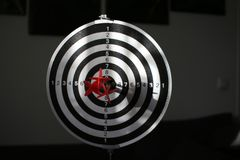 Trying to hit the dartboard royalty free stock photos