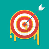 Dartboard target icon vector illustration Concept Royalty Free Stock Photography