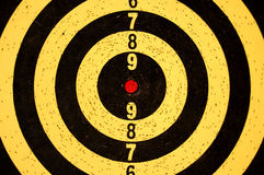 Dartboard target with numbers Royalty Free Stock Photo