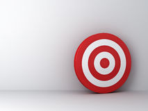 Dartboard or target on white room Stock Photography