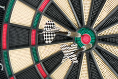 Dartboard and two arrows Royalty Free Stock Photos