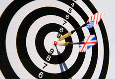 Dartboard with two darts Stock Image