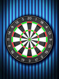 Dartboard on wall Royalty Free Stock Photos