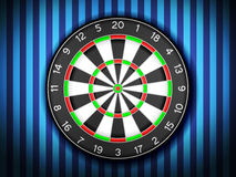 Dartboard on wall Royalty Free Stock Images