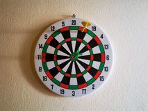 Dartboard on the wall. Success and fail Royalty Free Stock Photography