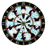 Dartboard Weather Forecast Stock Photos