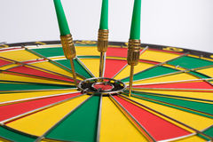 Dartboard on white background Darts miss the center Target Royalty Free Stock Photos