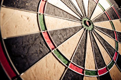 Dartboard wide angle dramatic light Royalty Free Stock Photos