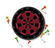 Dartboard With Darts Stock Images