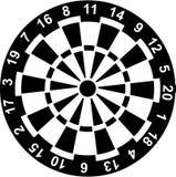 Dartboard z liczbami Obraz Royalty Free