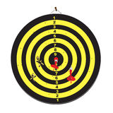 Dartboard z strzałkami Zdjęcia Stock