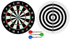 Dartboards and darts Royalty Free Stock Image