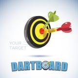 Dartboards en Pijltjes - stock illustratie