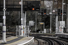 Dartford Train Station. A cold December view of dartford train station Stock Image