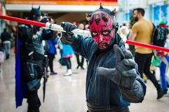 Darth Maul from Star Wars Cosplay Royalty Free Stock Photos