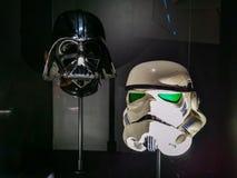 Darth original Vader et casques brutaux images libres de droits