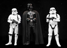 Darth Vadder och Stormtroopers Star Wars royaltyfria bilder