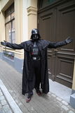 Darth Vader parody, fancy-dress Royalty Free Stock Photos