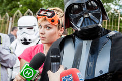 Darth Vader runs for Kiev major elections. Royalty Free Stock Photos