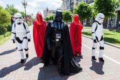 Darth Vader runs for Kiev major elections. Stock Image