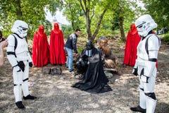 Darth Vader runs for Kiev major elections. Royalty Free Stock Photos