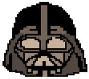 Darth Vader som dras i PIXEL royaltyfri illustrationer