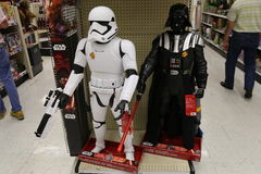 Darth Vader and Storm Trooper Toys Stock Photography