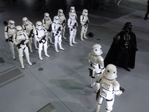Darth Vader & Stormtrooper figure in Ani-Com & Games Hong Kong 2015 Royalty Free Stock Image