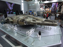 Darth Vader & Stormtrooperdiagram i Ani-Com & lekar Hong Kong 2015 royaltyfri foto