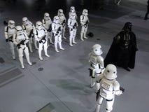 Darth Vader & Stormtrooperdiagram i Ani-Com & lekar Hong Kong 2015 royaltyfri bild