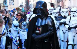 Darth Vader and Stormtroopers Royalty Free Stock Image