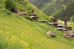Dartlo village. Tusheti region (Georgia) Stock Images