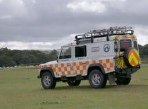 Dartmoor查寻和抢救救护车 免版税库存照片