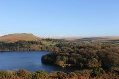 Dartmoor秋天颜色 免版税库存照片