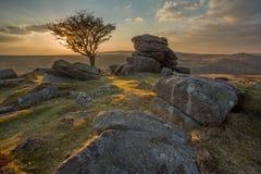 Dartmoor视图。 库存图片