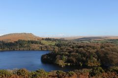 Dartmoor Autumn Colours. Autumn arrives in Burrator and Sheepstor Dartmoor National Park royalty free stock photo