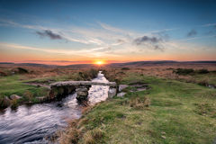Dartmoor-Brücke Lizenzfreies Stockfoto