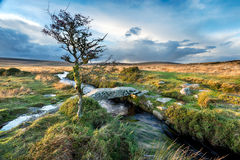Dartmoor Clapper Bridge Stock Photography