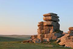 Dartmoor Great Staple Tor. Various shots at Staple Tor on Dartmoor National Park in Devon UK Royalty Free Stock Photo