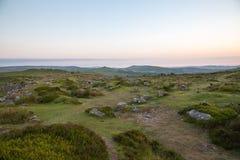 Dartmoor krajobraz Zdjęcie Royalty Free