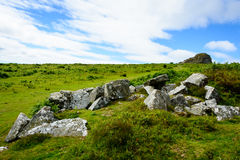 Dartmoor landscape, England Royalty Free Stock Images