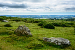 Dartmoor landscape, England - panorama Royalty Free Stock Image