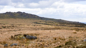Dartmoor Landscape, england. A landscape photograph of the moors of devon and cornwall Royalty Free Stock Photography
