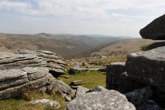 Dartmoor Nationaal Park Devon Combestone Tor Royalty-vrije Stock Afbeelding