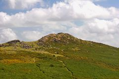 Dartmoor National Park. Rocky Tor, Dartmoor National Park UK Royalty Free Stock Image