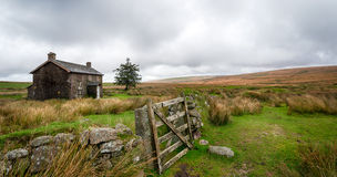 Dartmoor National Park. A derelict and abandoned farmhouse at Nun's Cross a remote part of Dartmoor National Park near Princetown in Devon Stock Photography