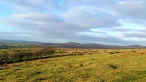 Dartmoor National Park heading towards Brentor stock images