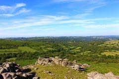 Dartmoor National Park. Hound tor. Dartmoor National Park UK Stock Photo