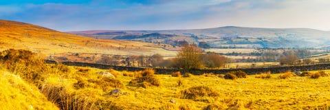 Dartmoor Panorama Royalty Free Stock Photography